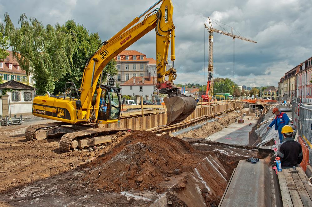 Baustelle, Promenade, Kanalrestaurierung/Onoldsbach