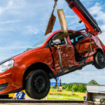 Glück bei Unfall an BAB 6 Ausfahrt bei Lichtenau