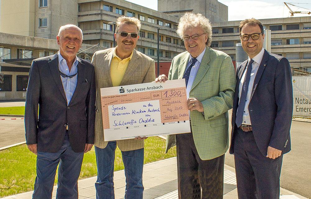 Schlaraffia Onoldia spendet 1.300 Euro …