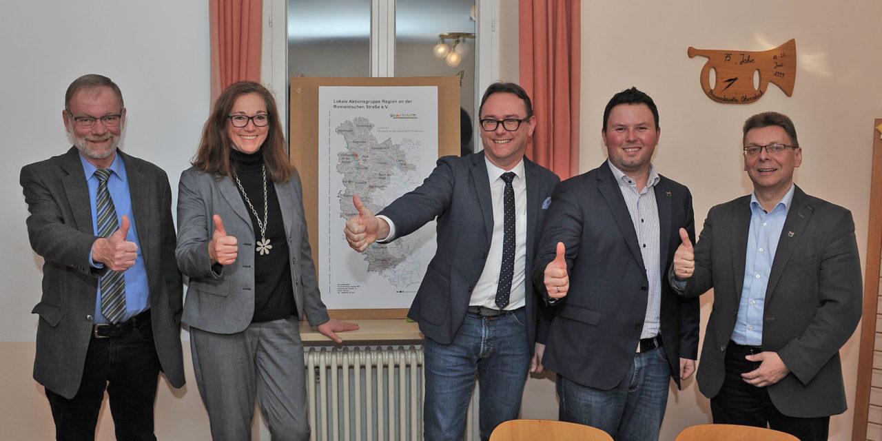 """LAG """"Region an der Romantischen Straße"""" e.V. setzt auf Kontinuität – Vorstandschaft bei Mitgliederversammlung bestätigt"""