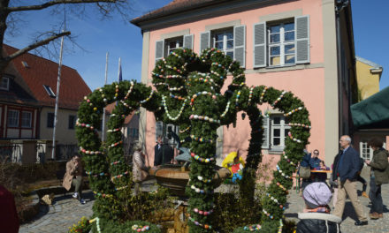 Osterbrunnen in Gunzenhausen eingeweiht
