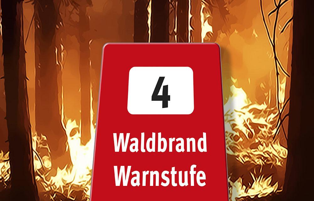 WALDBRANDGEFAHR im westlichen Mittelfranken