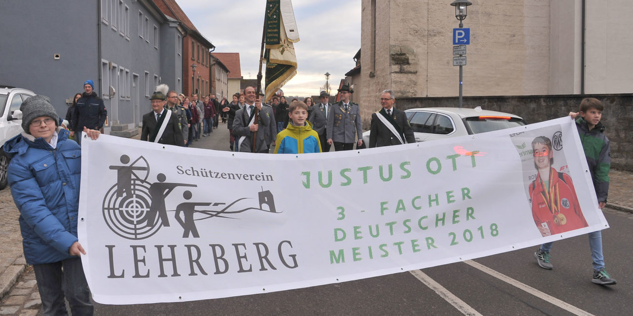 SV Lehrberg ehrt 3-fachen Deutschen Meister Justus Ott